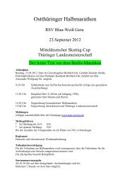 Ausschreibung Halbmarathon Gera - Mitteldeutscher Skating Cup