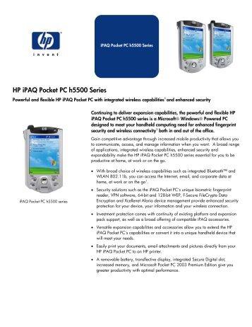 hp ipaq pocket pc 2003 manual