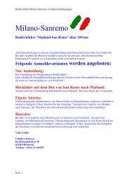 Teilnahmebedingungen - Milano-Sanremo » Willkommen