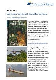 SGS-resa: Surinam, Guyana & Franska Guyana