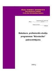 """Bakalaura profesionālo studiju programmas """"Būvniecība"""" - RTU ..."""