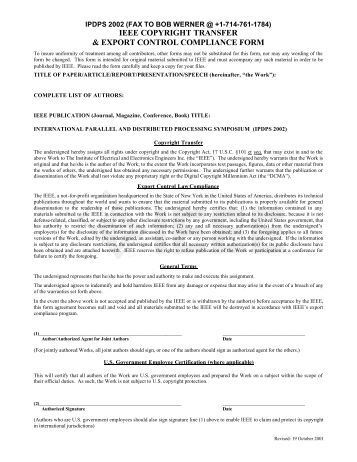Iw3C2 Copyright Release Form - Www2012