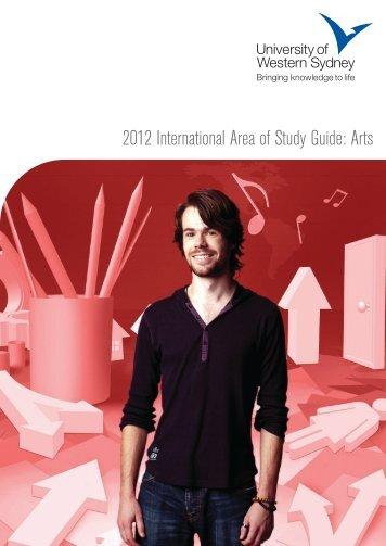 2012 International Area of Study Guide: Arts - KOM Consultants