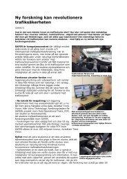 Ny forskning kan revolutionera trafiksäkerheten - Svensk trafiksäkerhet