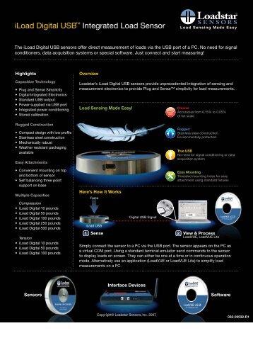 iLoad Digital USB™ Integrated Load Sensor - prodynamics