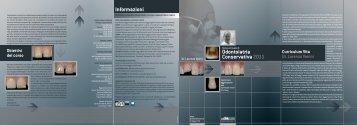 Odontoiatria Conservativa 2011 Informazioni