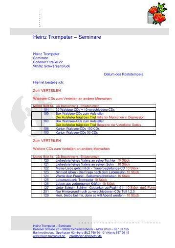Heinz Trompeter - Seminare - Heinz-trompeter.de