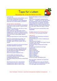 Newsletter Juli 2011 - Heinz-trompeter.de