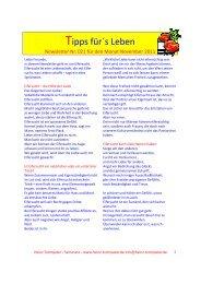 Newsletter November 2011 - Heinz-trompeter.de
