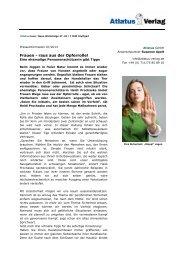 PI SicherheitsTipps - Frauen raus aus der Opferrolle - Atlatus-Verlag