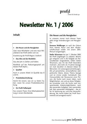 Newsletter der Regionalstelle St.Gallen, Ostschweiz - Profil