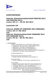 Ausschreibung - YCL - Yacht-Club Luzern