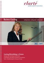 Business-Coaching 2012–2014 - clarte.de
