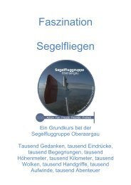 Schulungskurs 2013 (PDF) - Segelfluggruppe Oberaargau