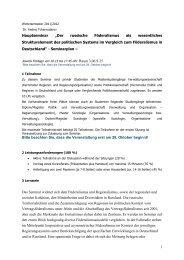 """1 Hauptseminar """"Der russische Föderalismus als wesentliches ..."""