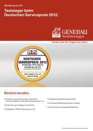 Testsieger beim Deutschen Servicepreis 2012. - Die ...