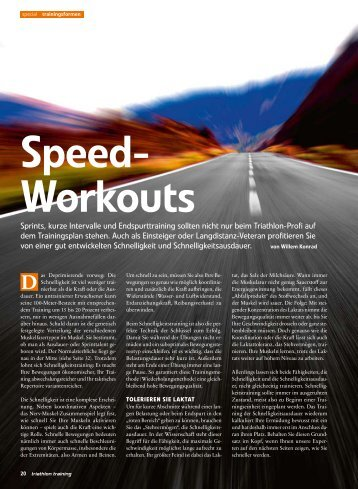 Speed-Workouts - Allwetterkind