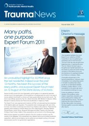 TraumaNews, November 2011 - Australian Centre for Posttraumatic ...