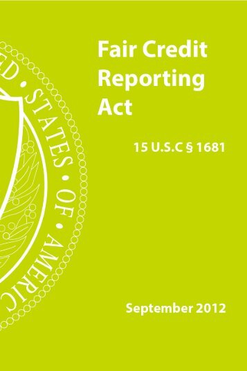 A summary of your rights under the fair credit reporting act pdf 0111 fair credit reporting act publicscrutiny Gallery