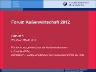 Titel der Präsentation - Forum Außenwirtschaft