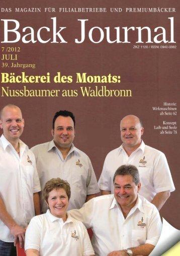 Back Journal - Trima Bakerymachines