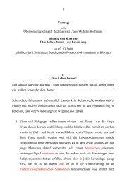 Vortrag von Oberbürgermeister a.D. Rechtsanwalt Claus-Wilhelm ...