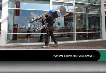 PODIUMS & WORK PLATFORMS RANGE //
