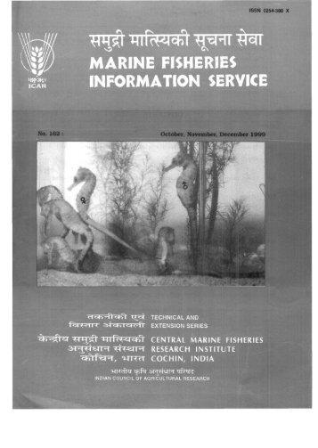 MARINE FISHERIES INFORMATION SERVICE - Eprints@cmfri