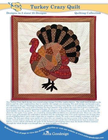 Turkey Crazy Quilt - Anita Goodesign