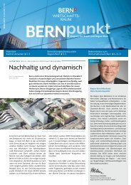 Neue BERNpunkt-Ausgabe ist da - Wirtschaftsraum Bern