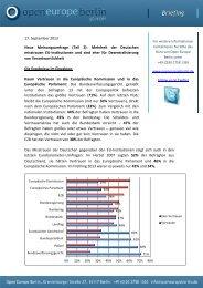 neue Umfrage - Open Europe Berlin