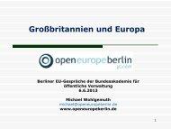 sind die folien - Open Europe Berlin