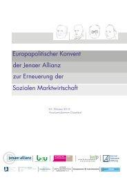 Europapolitischer Konvent der Jenaer Allianz zur ... - Walter Eucken