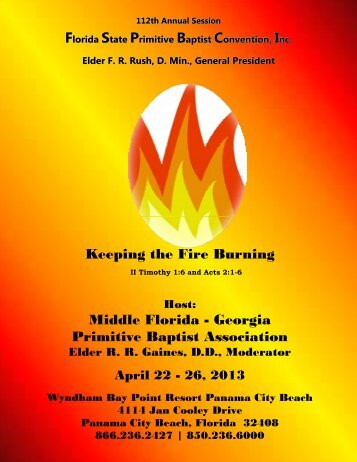 2013 convention program - Florida State Primitive Baptist ...