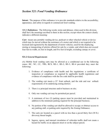 PDF Food Vending Ordinance - Horry County Government