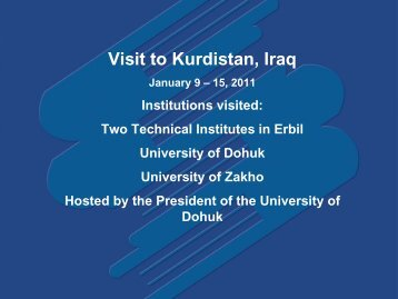 Universities in Iraq - Sabre Foundation