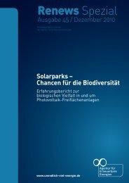 Solarparks – Chancen für die Biodiversität - Coaching Kommunaler ...