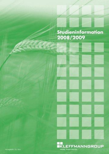 Studieninformation 2008/2009 - amis4farming