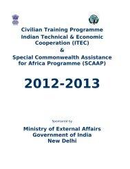 Civilian Training Programme Indian Technical & Economic ...