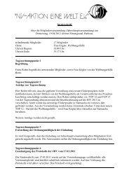 Niederschrift über die Mitgliederversammlung ... - NV-Aktion Eine Welt