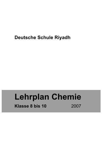 Lehrplan Chemie - Deutsche Schule Riyadh