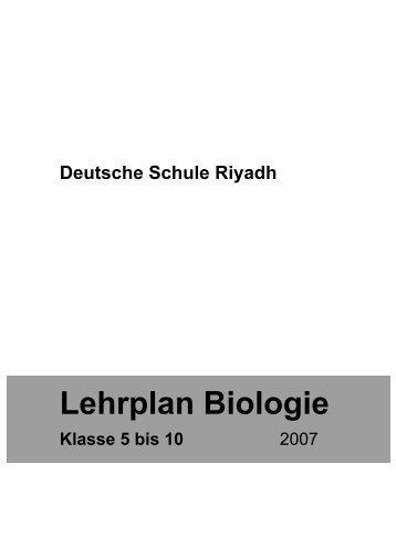 Lehrplan Biologie - Deutsche Schule Riyadh