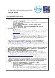 Verslag Platform Schuldhulpverlening Noord Datum: 14 ... - Nibud