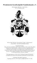 Westdeutsche Gesellschaft für Familienkunde e. V. - WGfF