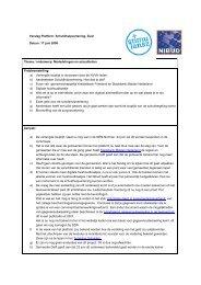 Thema / onderwerp: Mededelingen en actualiteiten ... - Nibud