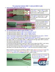 The comparison between USB 1.1 cable and USB 2.0 cable - Microtek