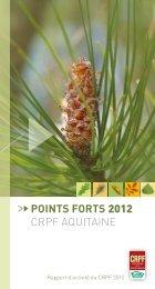 Rapport d'activité 2012 - Le Centre Régional de Propriété Forestière ...