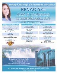 thursday, september 22nd - Registered Practical Nurses Association ...