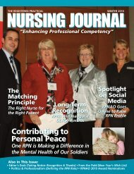 Contributing to Personal Peace - Registered Practical Nurses ...