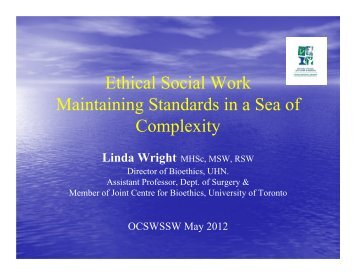 Ethical Practice: Maintaining Standards in a Sea of Complexity